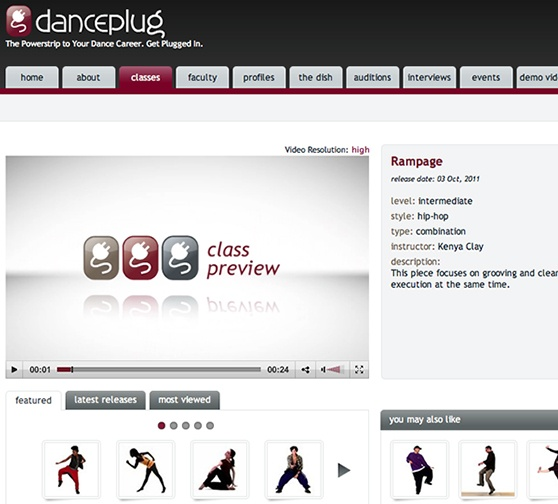 Danceplug Classes Home