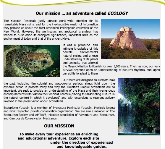 EcoturismoYucatan About Page