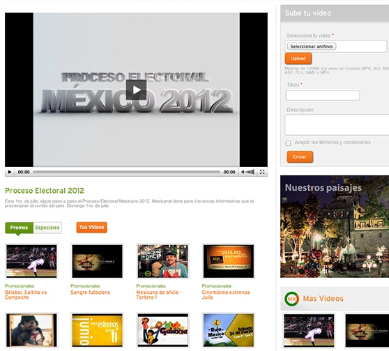 Mexicanal Videos Page